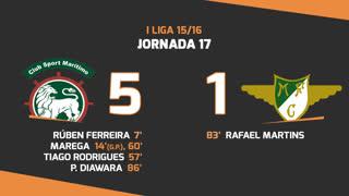 I Liga (17ªJ): Resumo Marítimo M. 5-1 Moreirense FC