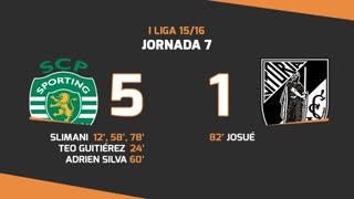 I Liga (7ªJ): Resumo Sporting CP 5-1 Vitória SC