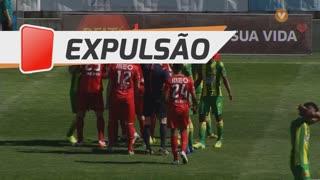 CD Tondela, Expulsão, Bruno Monteiro aos 1'