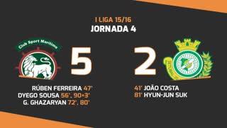 I Liga (4ªJ): Resumo Marítimo M. 5-2 Vitória FC