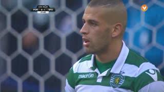 Sporting CP, Jogada, Slimani aos 32'