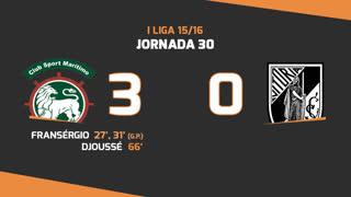 I Liga (30ªJ): Resumo Marítimo M. 3-0 Vitória SC