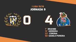 Liga NOS (9ªJ): Resumo U. Madeira 0-4 FC Porto
