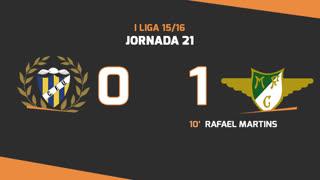 I Liga (21ªJ): Resumo U. Madeira 0-1 Moreirense FC