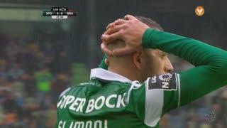 Sporting CP, Jogada, Slimani aos 28'