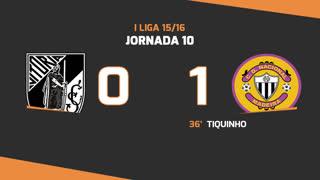 I Liga (10ªJ): Resumo Vitória SC 0-1 CD Nacional