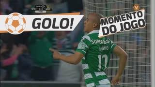 GOLO! Sporting CP, João Mário aos 18', Sporting CP 2-0 FC Arouca