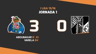 I Liga (1ªJ): Resumo FC Porto 3-0 Vitória SC