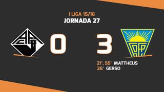 I Liga (27ªJ): Resumo A. Académica 0-3 Estoril Praia