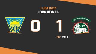Liga NOS (16ªJ): Resumo Estoril Praia 0-1 Marítimo M.