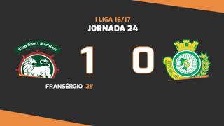 Liga NOS (24ªJ): Resumo Marítimo M. 1-0 Vitória FC
