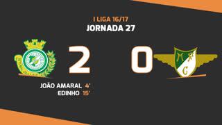 I Liga (27ªJ): Resumo Vitória FC 2-0 Moreirense FC