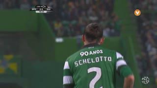 Sporting CP, Jogada, E. Schelotto aos 18'