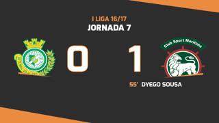 I Liga (7ªJ): Resumo Vitória FC 0-1 Marítimo M.