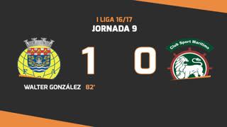 I Liga (9ªJ): Resumo FC Arouca 1-0 Marítimo M.