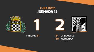 Liga NOS (13ªJ): Resumo Boavista FC 1-2 Vitória SC