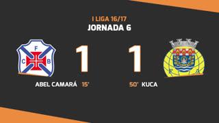 I Liga (6ªJ): Resumo Belenenses 1-1 FC Arouca