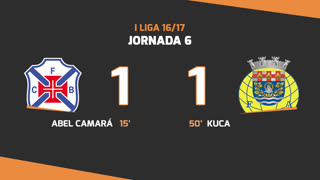 Liga NOS (6ªJ): Resumo Os Belenenses 1-1 FC Arouca