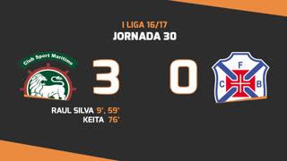 I Liga (30ªJ): Resumo Marítimo M. 3-0 Os Belenenses