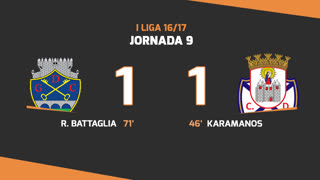 I Liga (9ªJ): Resumo GD Chaves 1-1 CD Feirense