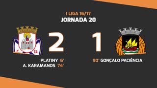 Liga NOS (20ªJ): Resumo CD Feirense 2-1 Rio Ave FC