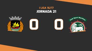 Liga NOS (21ªJ): Resumo Rio Ave FC 0-0 Marítimo M.