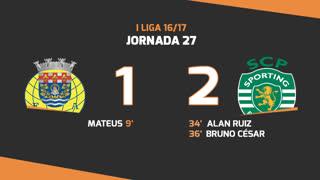 Liga NOS (27ªJ): Resumo FC Arouca 1-2 Sporting CP