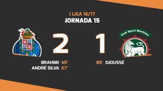 I Liga (15ªJ): Resumo FC Porto 2-1 Marítimo M.