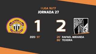 Liga NOS (27ªJ): Resumo CD Nacional 1-2 Vitória SC