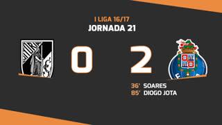 Liga NOS (21ªJ): Resumo Vitória SC 0-2 FC Porto