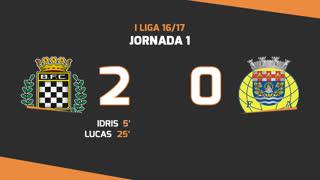I Liga (1ªJ): Resumo Boavista FC 2-0 FC Arouca
