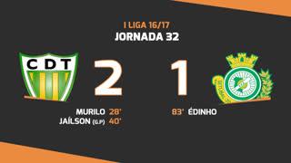Liga NOS (32ªJ): Resumo CD Tondela 2-1 Vitória FC