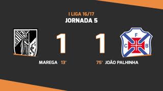 Liga (5ªJ): Resumo V. Guimarães 1-1Belenenses