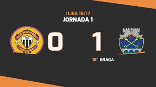 I Liga (1ªJ): Resumo CD Nacional 0-1 GD Chaves