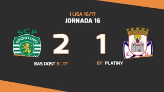 Liga NOS (16ªJ): Resumo Sporting CP 2-1 CD Feirense