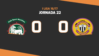 Liga NOS (22ªJ): Resumo Marítimo M. 0-0 CD Nacional
