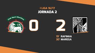 Liga NOS (2ªJ): Resumo Marítimo M. 0-2 Vitória SC