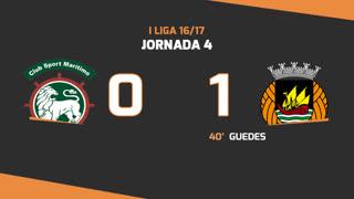 I Liga (4ªJ): Resumo Marítimo M. 0-1 Rio Ave FC