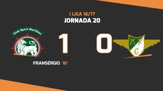 I Liga (20ªJ): Resumo Marítimo M. 1-0 Moreirense FC