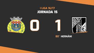 Liga NOS (15ªJ): Resumo FC Arouca 0-1 Vitória SC
