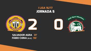 Liga NOS (5ªJ): Resumo CD Nacional 2-0 Marítimo M.