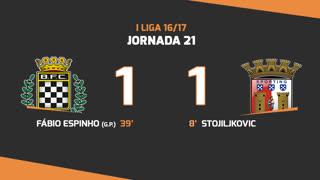 Liga NOS (21ªJ): Resumo Boavista FC 1-1 SC Braga