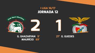 I Liga (12ªJ): Resumo Marítimo M. 2-1 SL Benfica