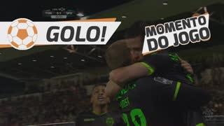 GOLO! Sporting CP, Bas Dost aos 33', CD Tondela 0-1 Sporting CP
