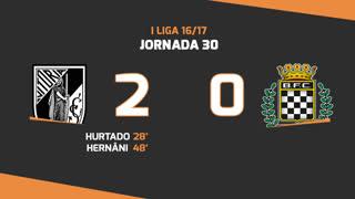 I Liga (30ªJ): Resumo Vitória SC 2-0 Boavista FC