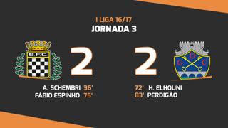 Liga NOS (3ªJ): Resumo Boavista FC 2-2 GD Chaves