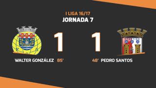 Liga NOS (7ªJ): Resumo FC Arouca 1-1 SC Braga