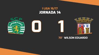 I Liga (14ªJ): Resumo Sporting CP 0-1 SC Braga