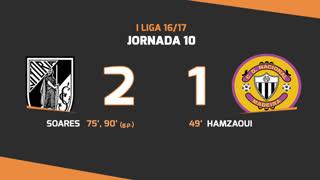 Liga NOS (10ªJ): Resumo Vitória SC 2-1 CD Nacional