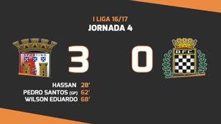 I Liga (4ªJ): Resumo SC Braga 3-0 Boavista FC